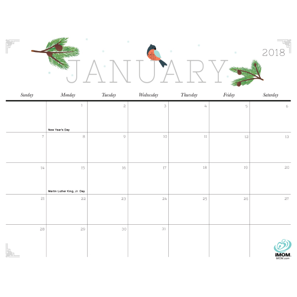 Cute and Crafty 2018 Calendar iMom