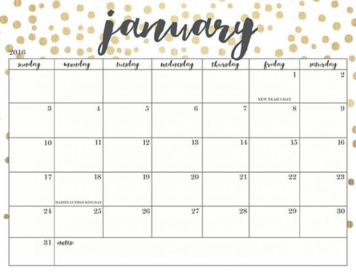 January 2018 Calendar | yearly printable calendar