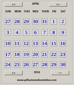 Insert A Popup Calendar Into A PDF Fillable Form