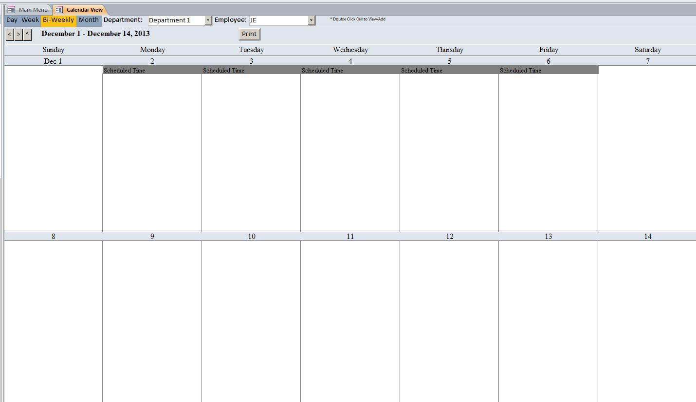 bi weekly calendar template free Toreto.co