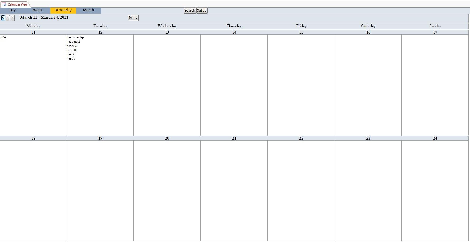 Blank Printable Bi Weekly Calendar | Blank Calendar Design 2017