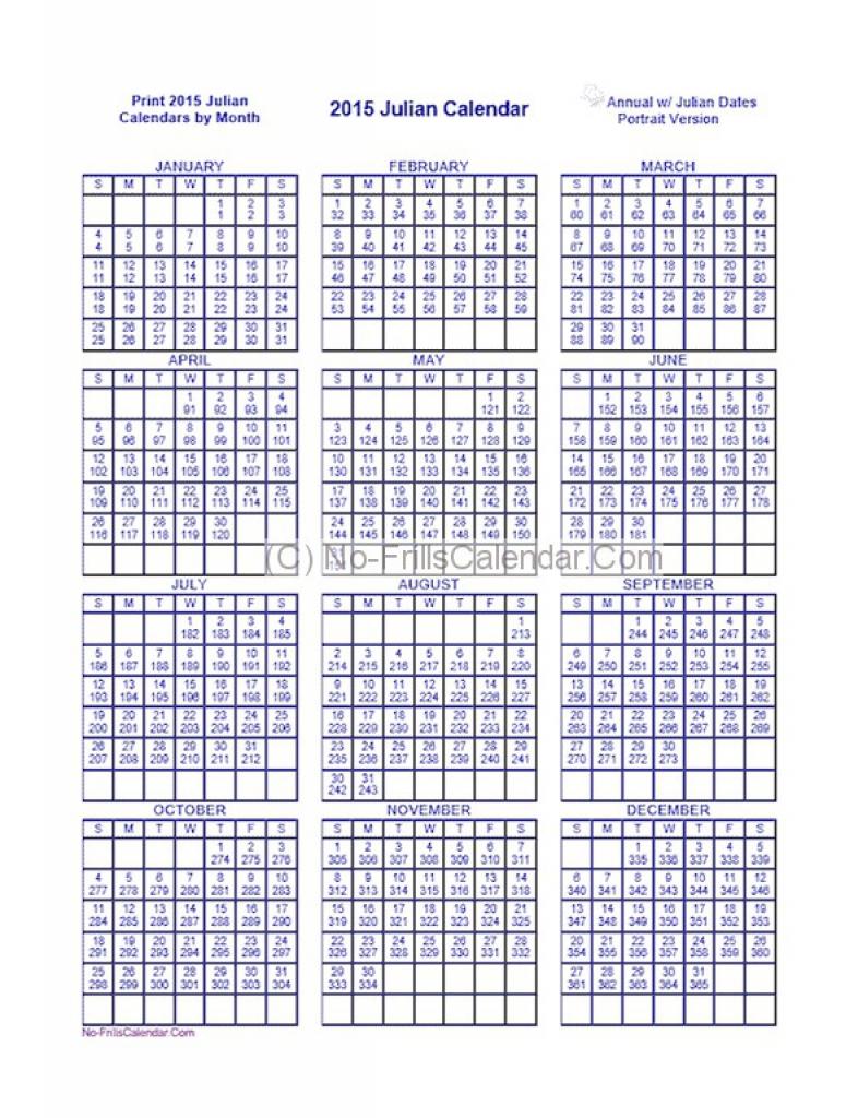 Julian Calendar | 2018 calendar printable