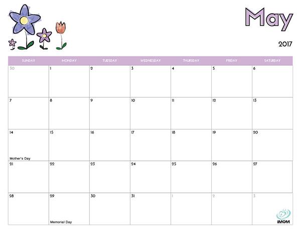 Calendar Template Kids Idealstalist