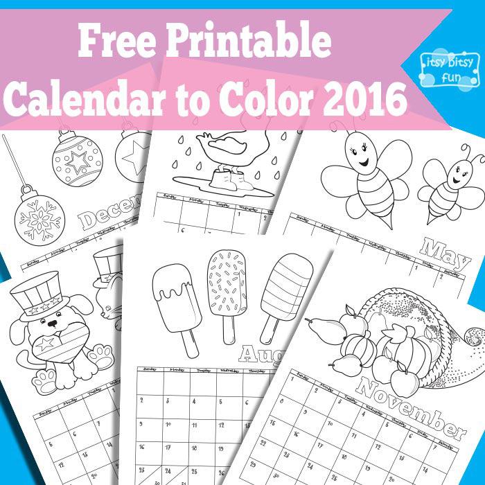 Printable Calendars For Kids | Blank Calendar Design 2017