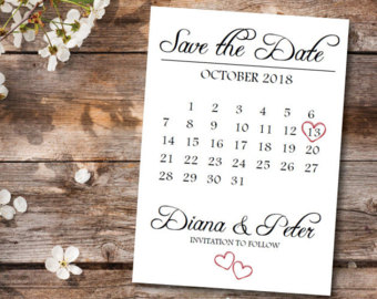 Music Save the Date Calendar Template/Printable Save the Date