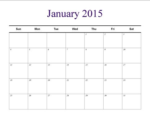 Understated Calendar Template Publisher