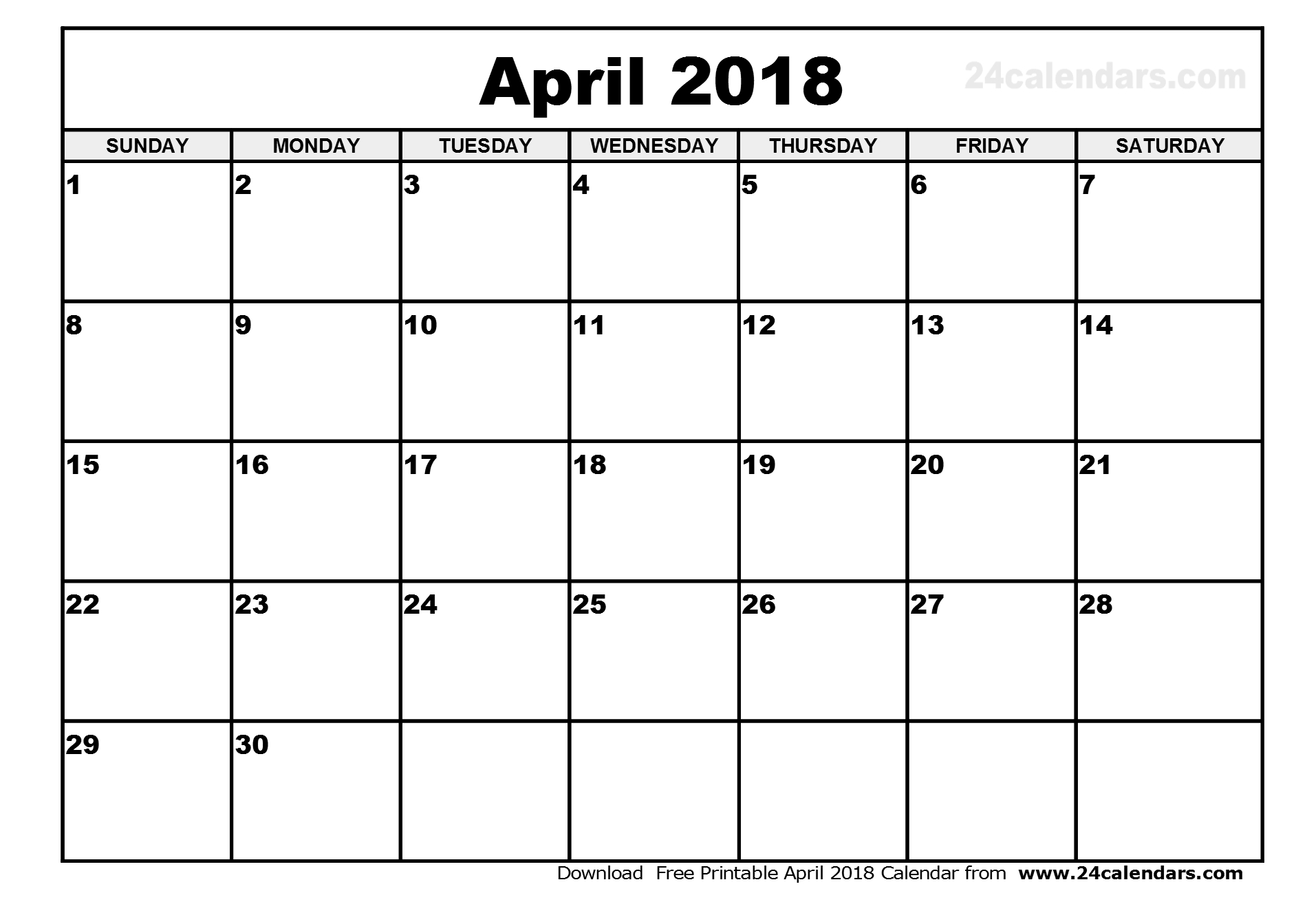 editable calendar april 2018 Twenty.hueandi.co