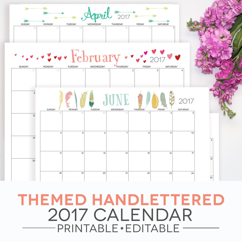 2018 Blank Calendar Templates Download Free Printable 2018 Blank