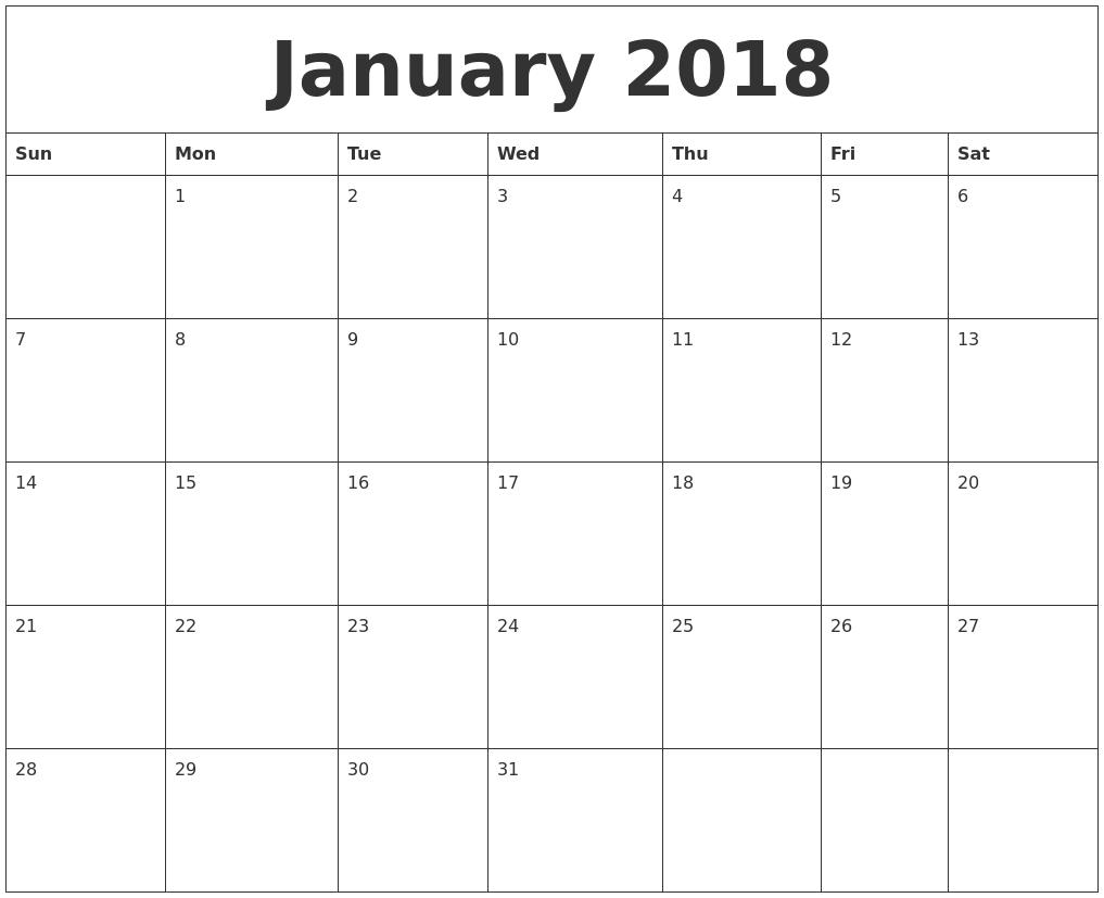 blank fillable calendar 2018 Twenty.hueandi.co