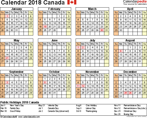 november calendar canada 2018 Twenty.hueandi.co