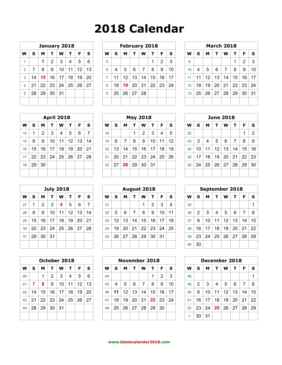Get free blank printable 2017 2018 2019 2020 Calendar template