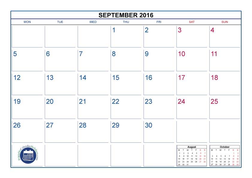 2016 Printable Calendar Templates 8 12 X 11 Calendar Template 2017
