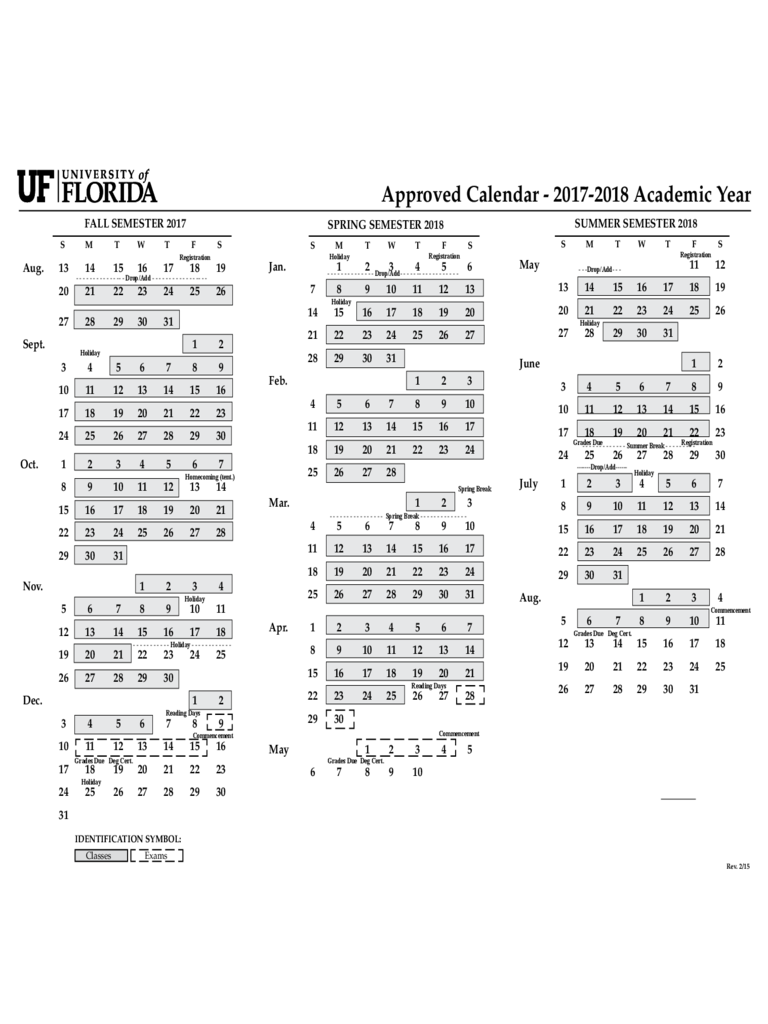 2017 Calendar University of Florida Edit, Fill, Sign Online
