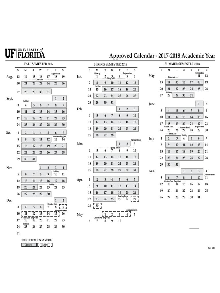 2017 Calendar University of Florida Edit, Fill, Sign Online