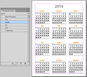 It's InDesign Calendar Template Time! InDesignSecrets.