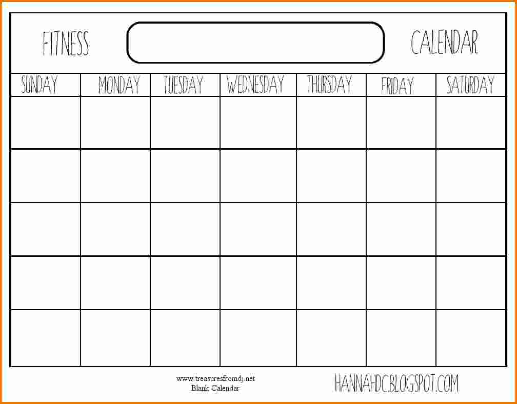 blank workout schedule Madrat.co