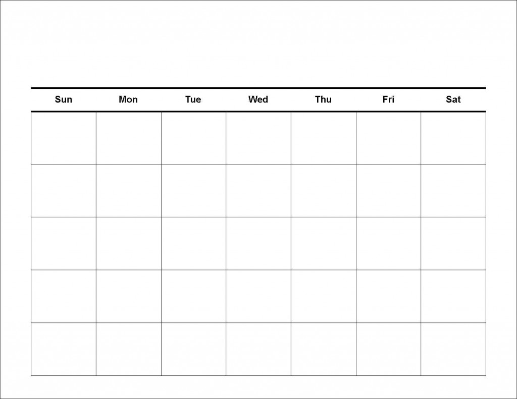 Printable Workout Calendar | Kiddo Shelter
