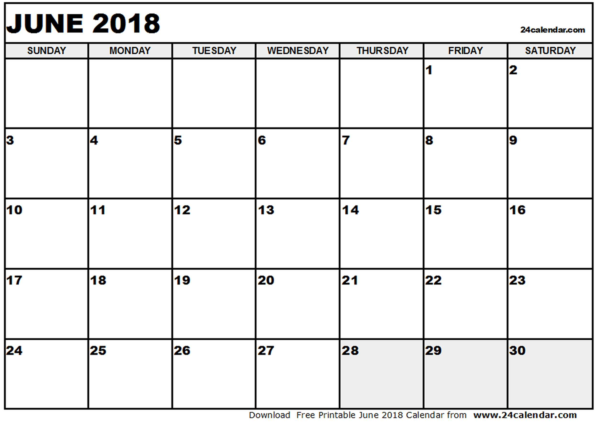 blank june 2018 calendar Twenty.hueandi.co