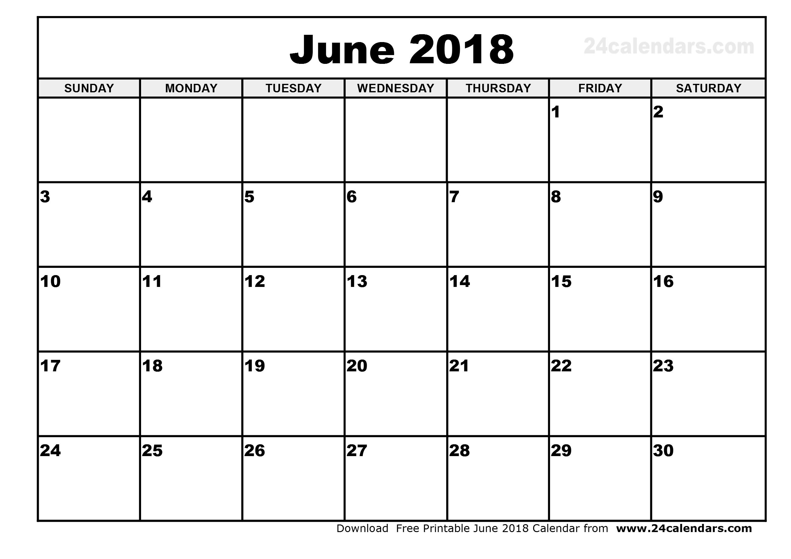 calendar 2018 june Twenty.hueandi.co