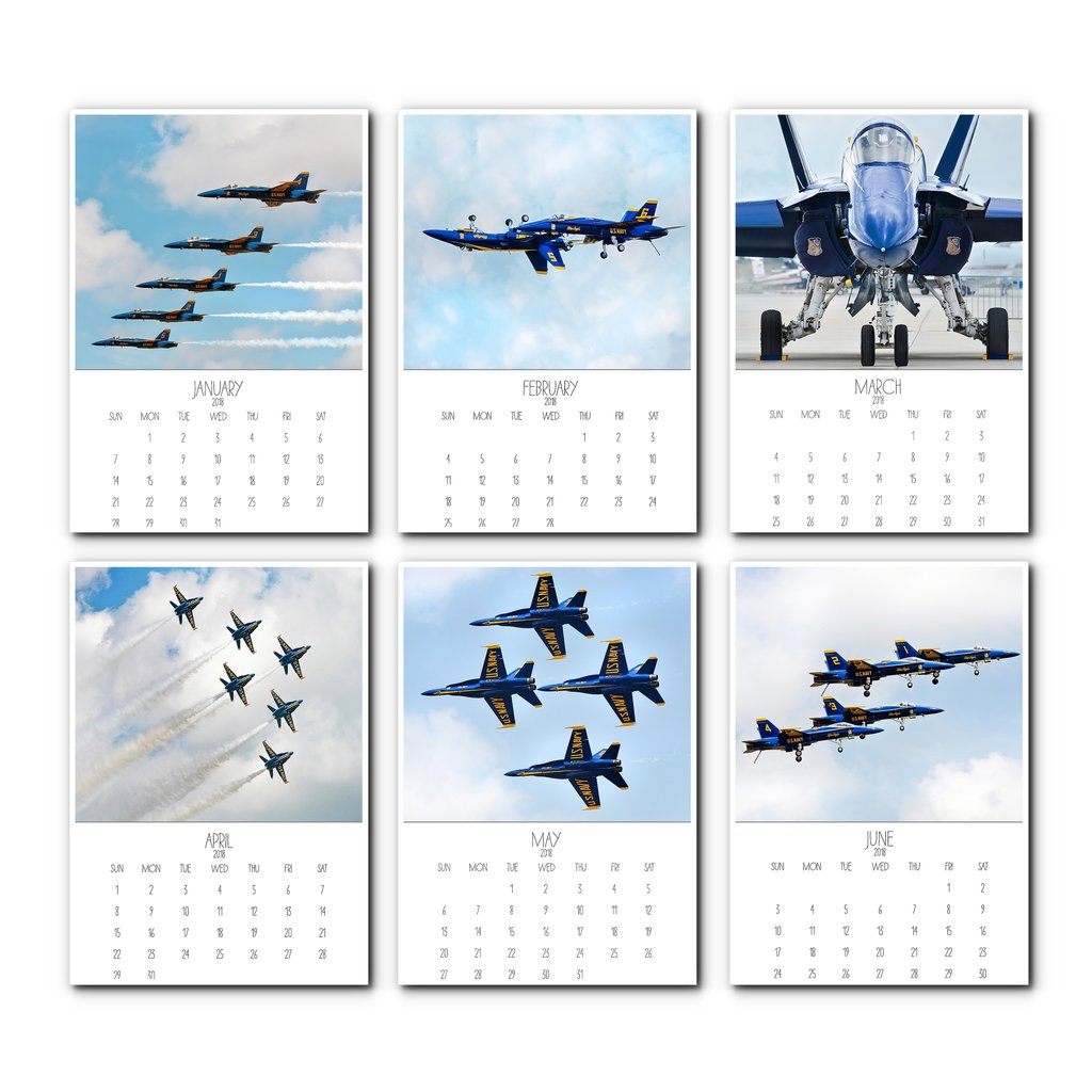 2018 Blue Angels Desk Calendar – Catch A Star Fine Art