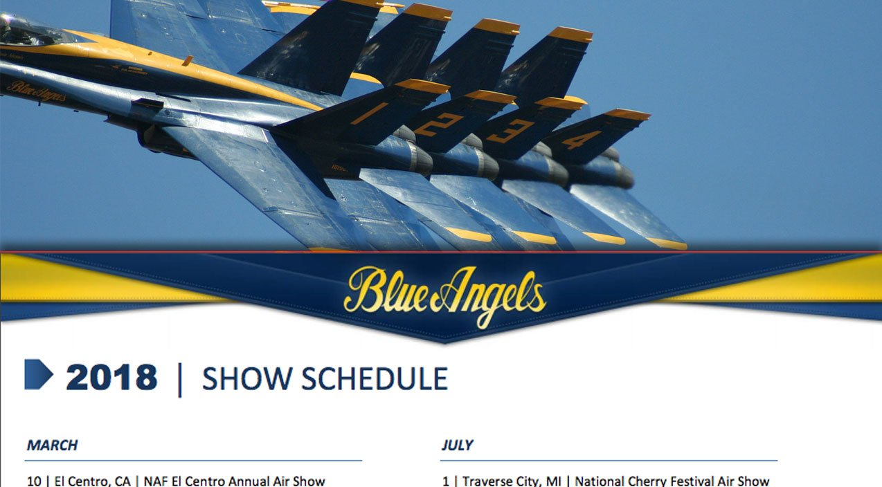 Blue Angels Just Released Their 2018 Airshow Schedule Mark Your