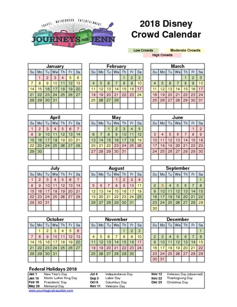 Walt Disney World Crowd Calendar: Plan for The Best Week to Visit