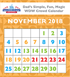 Dad's 2018 Walt Disney World Crowd Calendars New and Different