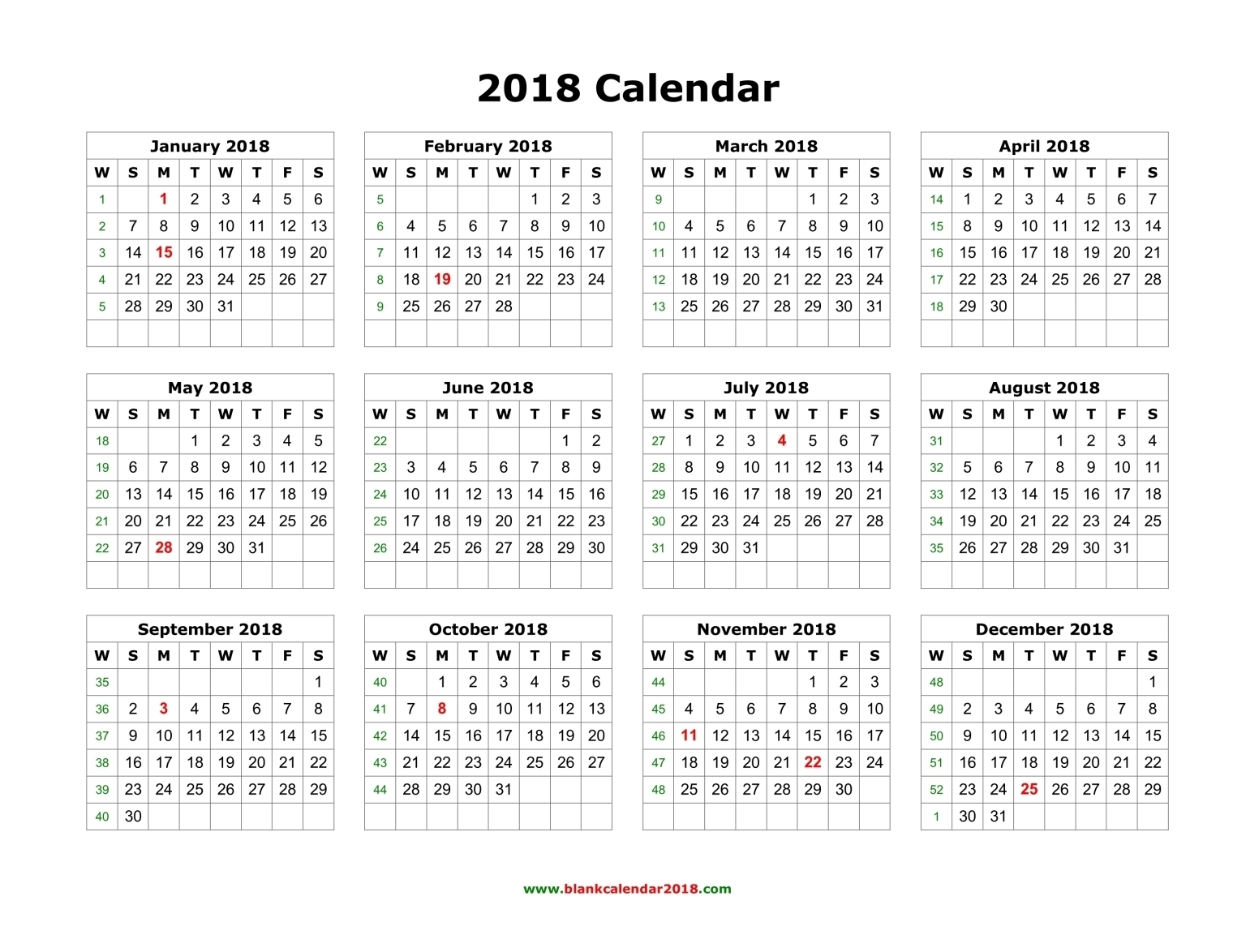 March 2018 Printable Calendar Pdf | Printable Calendar 2018