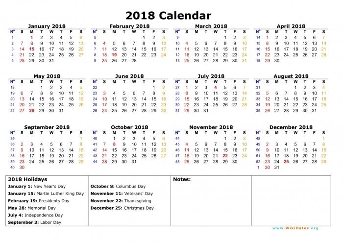 2018 Calendar Free | Calendar Printable 2017
