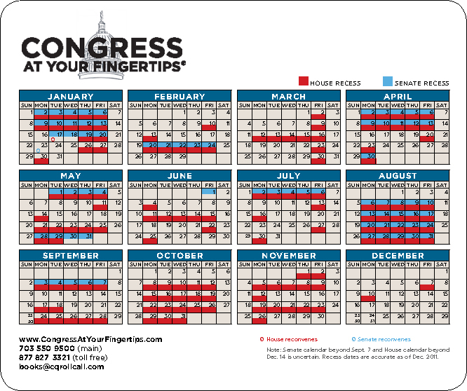 Mouse Pad with Congressional Schedule Capitol Advantage Publishing