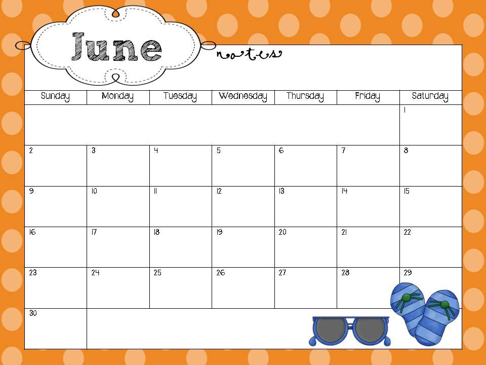 free editable calendar for teachers Madrat.co