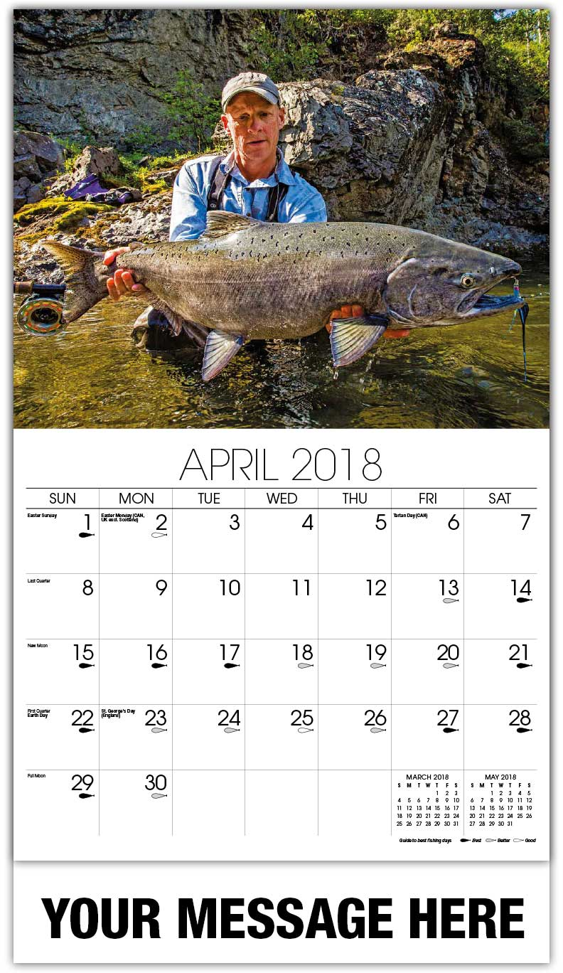 Fishing and Hunting Calendar | Business Advertisign Calendar low
