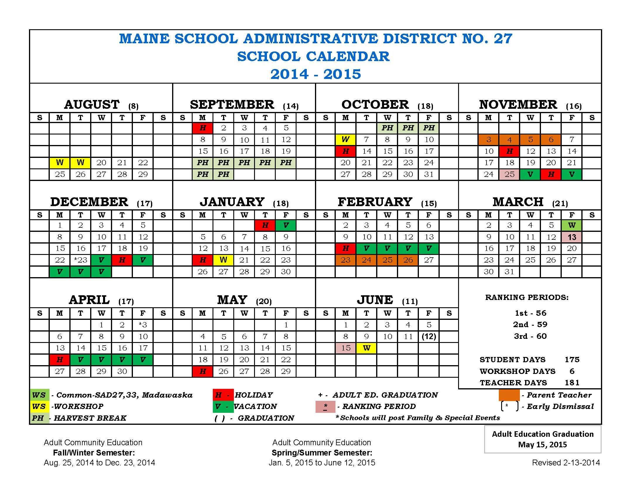 Fresno Unified School District Calendar 2020 Fresno Unified School Year 2017 Calendar | Calendar Template 2019