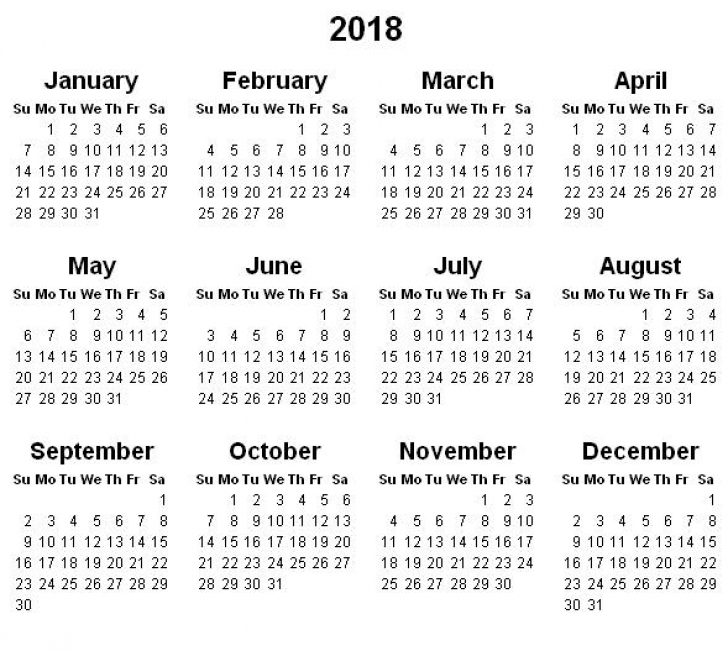 Big Happy Planner 2018 Year at a Glance Calendar