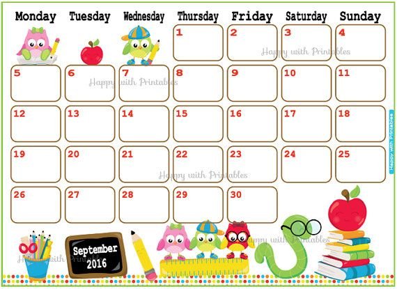 Calendar September 2015 Printable Flowers Sheet goes Monday to