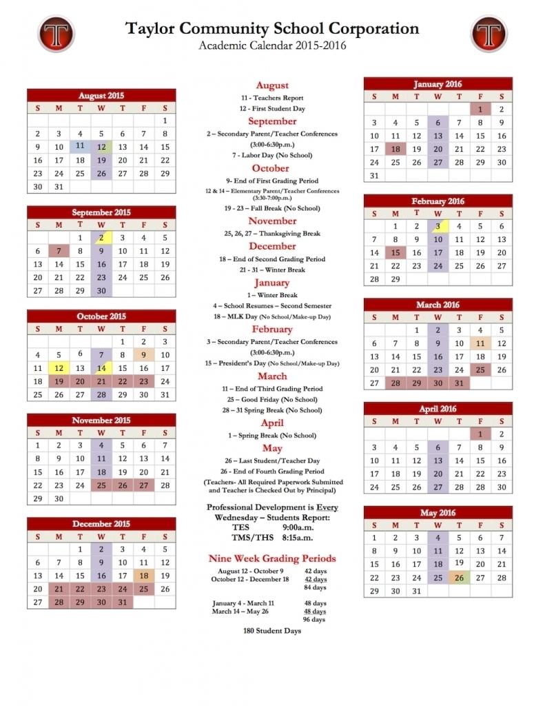 School System Calendar – HCPSS