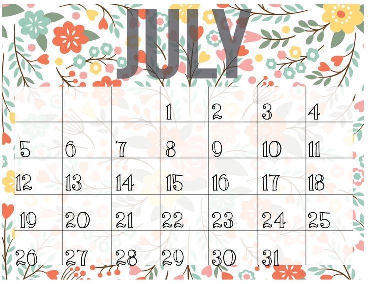 The 25+ best July calendar 2016 printable ideas on Pinterest