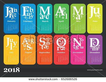 Free 2018 PDF Calendar Templates Download & Print 2018 calendar PDF