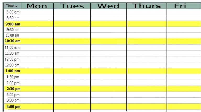 weekly calendar template monday friday Madrat.co