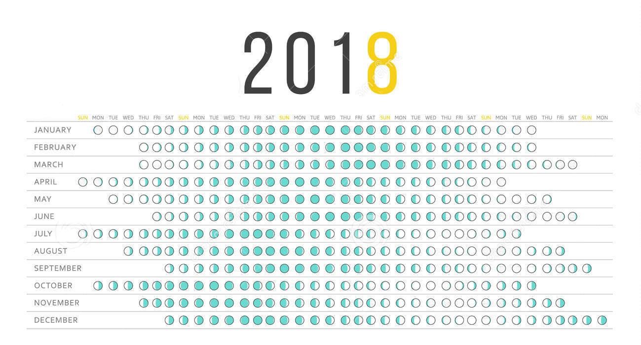 Full Moon Calendar 2018 | Moon Schedule | January 2018 Calendar