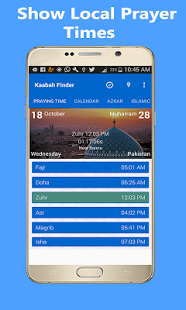 Qibla finder:Prayer times & Islamic Calendar 2018 Android Apps