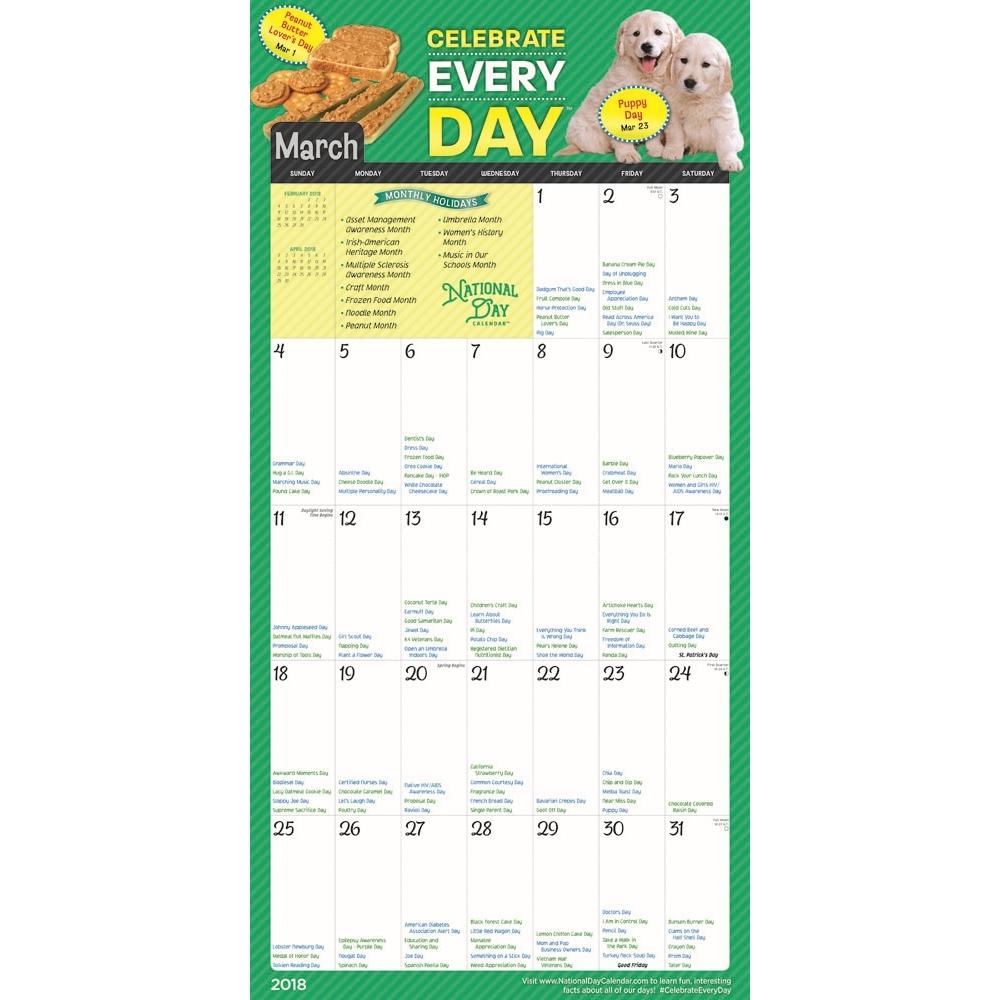 National Day 2018 Wall Calendar     Calendars.com