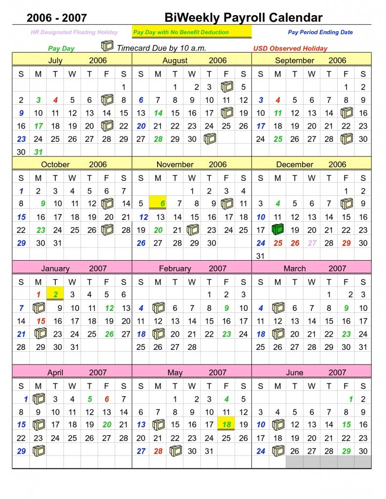 bi weekly pay calendar 2018 Madrat.co