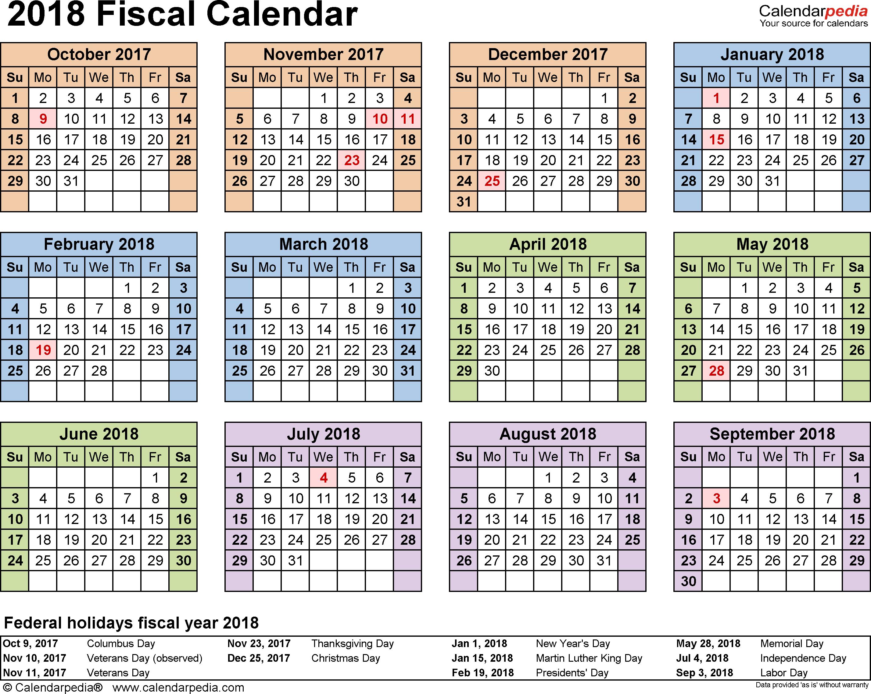 2018 Pay Period Calendar Government | Calendar Template 2017