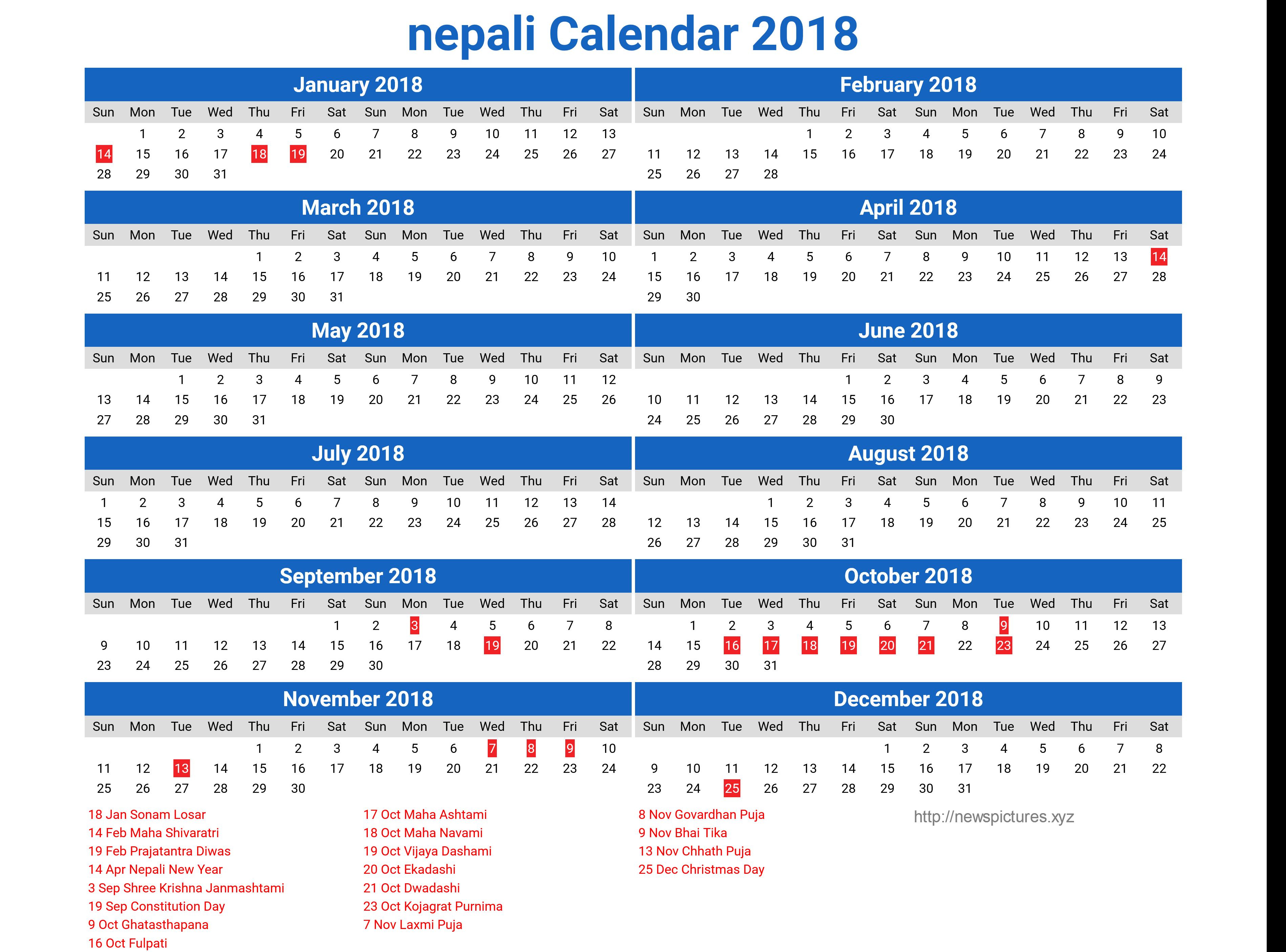 nepali calendar 2018 13 newspictures.xyz