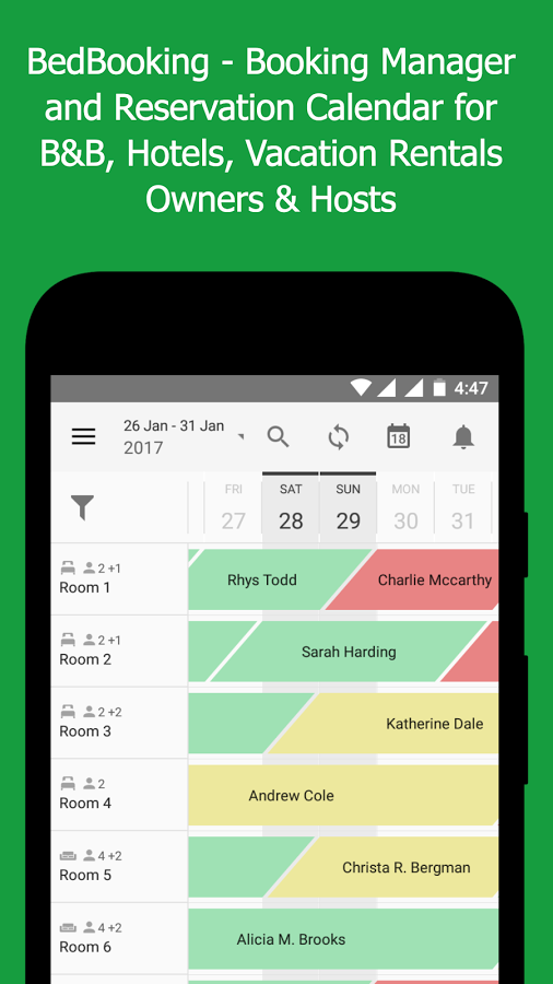 BedBooking: Booking Manager Reservation Calendar Android Apps on