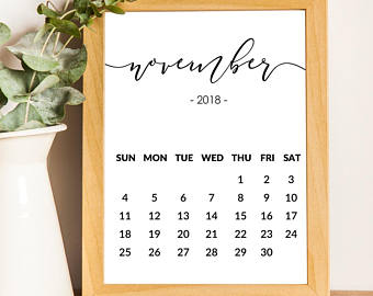 June Calendar 2018 print Printable Pregnancy Announcement