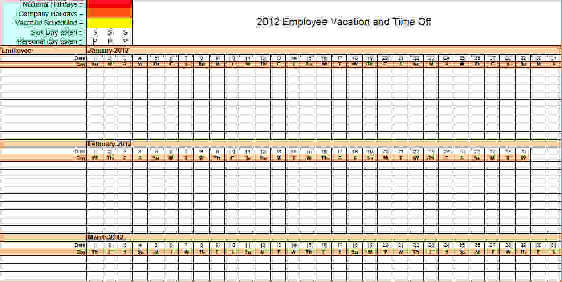 excel vacation calendar Madrat.co