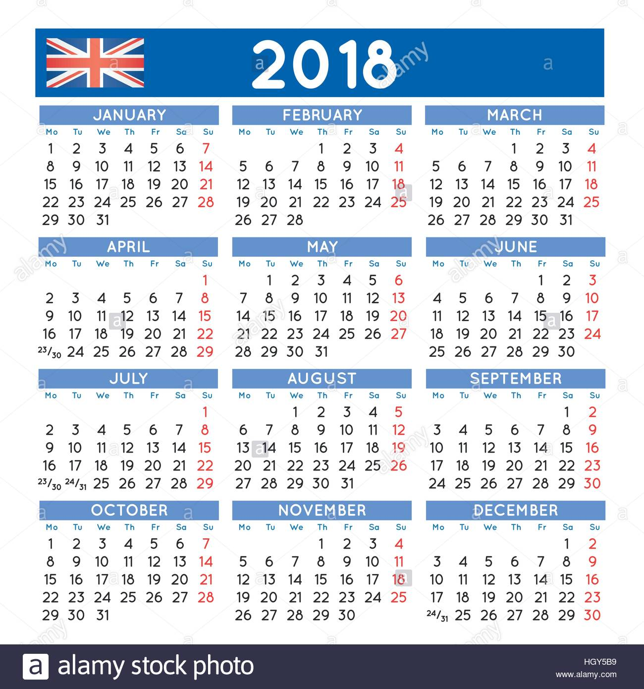 Free Download Yearly Printable calendar 2018 in PDF, 15+ editable