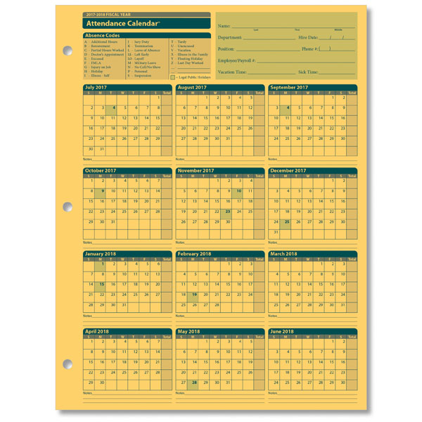 free printable employee attendance calendar 2018 selo l ink co
